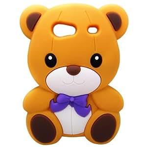 Semoss 3D Lovely oso de peluche de Silicona Carcasa para Samsung Galaxy S Advance i9070 - marrón