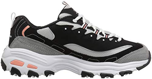 Trainers Womens grey black Time White Me D'lites Skechers q1xHwIRv