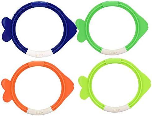 4個ダイビングリング プールおもちゃダイビング 泳ぐダイビングのおもちゃ かわいい形 安全無毒 耐久性 楽しみを楽しむ おもちゃ