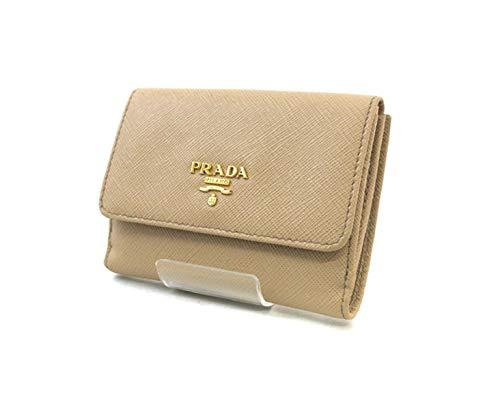 Prada Portafoglio Pattina Cammeo and Orchidea Saffiano Multic Leather Wallet ()