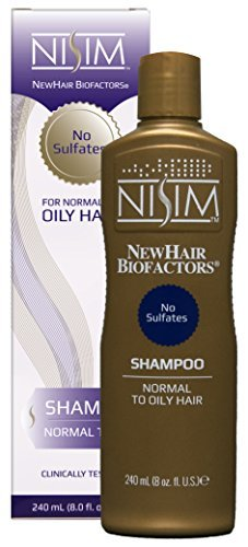 NISIM NewHair BioFactors Shampoo for Normal To Oily Hair - Deep Cleaning Shampoo That Controls Excessive Hair Loss (8 Ounce / 240 Milliliter)