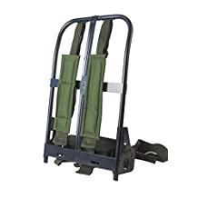 AKmax ALICE BackPack Iron Frame with Olive Green 600D Polyester Straps and Waist Belt