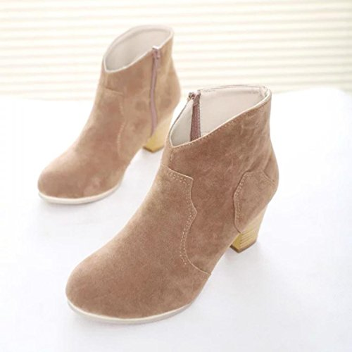 Ankle Clode® Platform Size UK Low Faux Boots Shoes Ladies Mid Womens Heel Khaki Block Chelsea Chunky Boots Suede Ladies zpWTqw5P