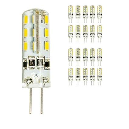 mengjay® 20 x G4 LED Lamper 2 W 3000 K blanco cálido 12 V dc