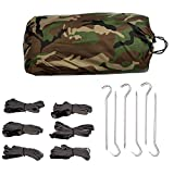Aqua Quest Defender Tarp Kit - 100% Waterproof Heavy Duty Nylon Bushcraft Survival Shelter - 10x10 Camo Kit