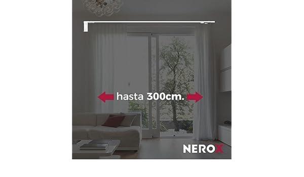 NEROX PRIME, Riel de cortinas motorizado de fácil instalación. Hasta 100 cm de ancho. (Apertura Lateral): Amazon.es: Hogar