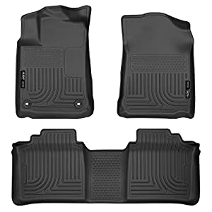 Husky Liners 98501 Fits 2013-18 Toyota Avalon ELECTRIC/GAS Weatherbeater Front & 2nd Seat Floor Mats, Black