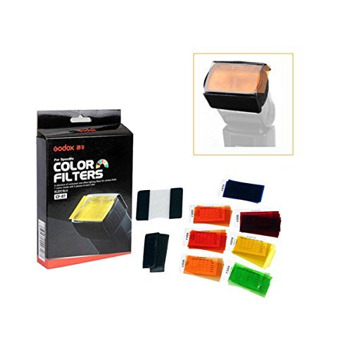Godox CF-07 7 Color Universal Speedlite Filters Kit For Flash Photography by Godox