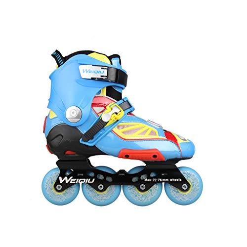 作曲家開いたアンペアailj インラインスケート、スケート、大人の男の子、ローラースケート、プロの多目的スケート(3色) (色 : 青, サイズ さいず : EU 44/US 11/UK 10/JP 27cm)