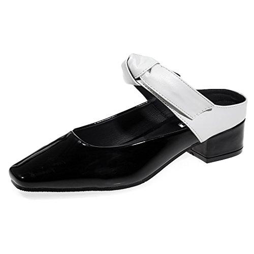 black pigro grossa scarpe Baotou Qingchunhuangtang Con ciabatte sandali a6qnB0w