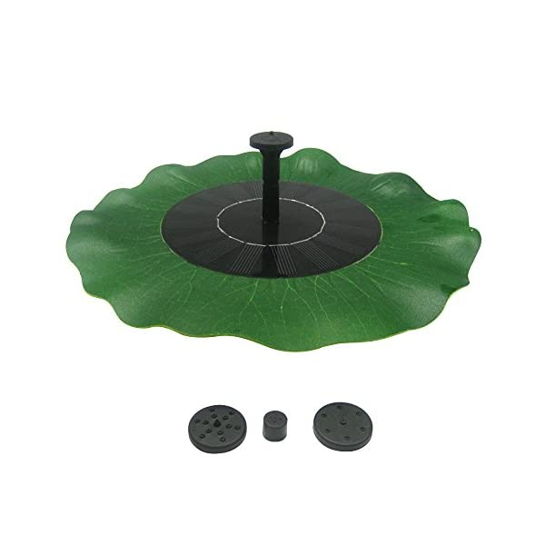 4138k3XzSkL. SS600  - Solar Powered Fountain Pump, FOME Solar Fountain Pump Brushless Bird Bath Fountain Solar Power Water Floating Pump Kit with Different Spray Heads for Pond Pool Garden Decoration
