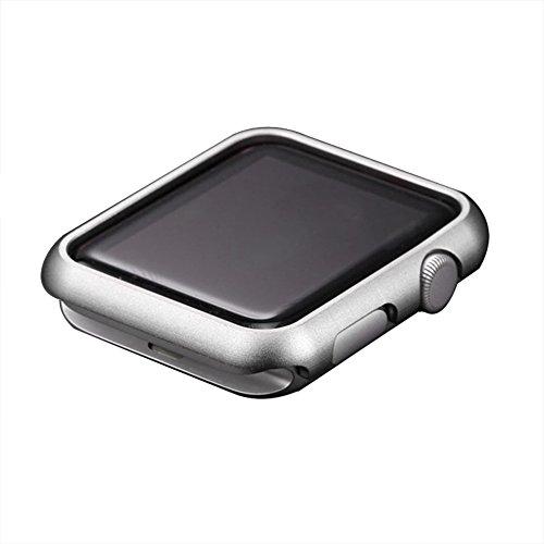 Apple Watch Serie 3 Case, Toeoe 42MM Lightweight Metal Bumper Aluminum Alloy Hard Protective Case for Apple Watch Series 3/2/1 42MM - Silver Aluminum