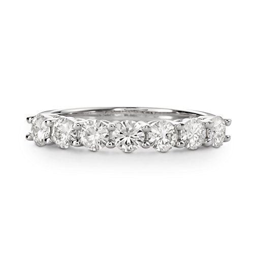 Forever Brilliant Round 3.5mm Moissanite Wedding Band - size 8, 1.12cttw DEW by Charles & Colvard from Charles & Colvard