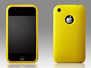 More Swirling - Carcasa para iPhone 3G/3GS, color amarillo