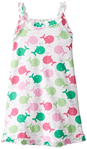 Sara Girls Clothing - Sara's Prints Little Girls' Girls Ruffle Tank Nightgown, Spouting Whales Pink, 6