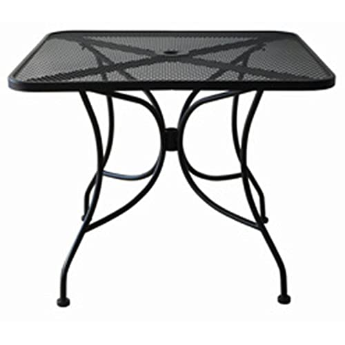 metal mesh patio furniture. Oak Street Manufacturing OD3030 Square Black Mesh Top Outdoor Table, 30\ Metal Patio Furniture