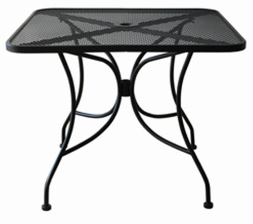 Oak Street Manufacturing OD3030 Square Black Mesh Top Outdoor Table, 30
