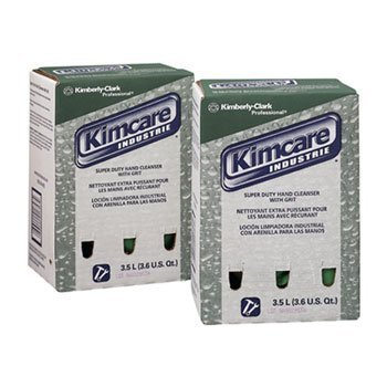 Kimberly-Clark 91757 KIMCARE INDUSTRIE SuperDuty Hand Cleanser w/Grit, Herbal, 3.5L, Bag In Box, 2/CT by Kimberly-Clark - Malls Shopping In Ct