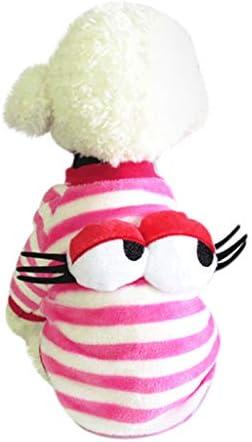 Amphia - Warme Kleidung mit Hund,Netter Hundewelpen-Kleidungs-Strickjacke-kleines Welpen-Hemd weiche Haustier-Mäntel(L,Rosa)