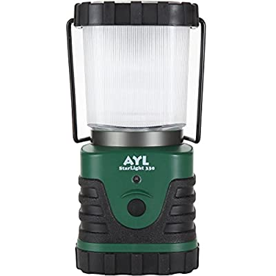AYL StarLight - Water Resistant - Shock Proof - Battery Powered Ultra Long Lasting Up To 6 DAYS Straight - 300 Lumens Ultra Bright LED Lantern - Perfect Camping Lantern for Hiking, Camping, Emergencies,Hurricanes, Outages