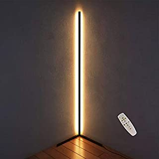 LED Floor Lamp Modern Dimmer Warm White Light Remote Control Standing Reading Lamp for Office Study Bedroom New Dropship,Black
