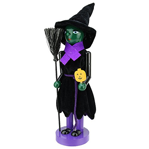 Northlight Green Witch Wooden Halloween Nutcracker
