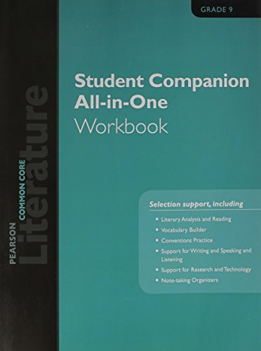PEARSON LITERATURE 2015 COMMON CORE STUDENT COMPANION ALL-IN-ONE WORKBOOK GRADE 09