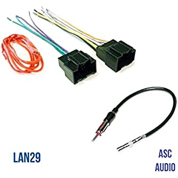 amazon com asc audio car stereo radio wire harness plug and antenna rh amazon com Basic AC Wiring Miller AC Unit Diagram