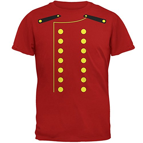 Old Glory Halloween Hotel Bellhop Costume Red Adult T-Shirt - Large -