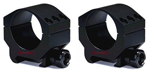 TAC Vector Optics Tactical 30mm Scope Extreme Low Weaver Mount Ring Heavy Duty High End Color Black by TAC Vector Optics