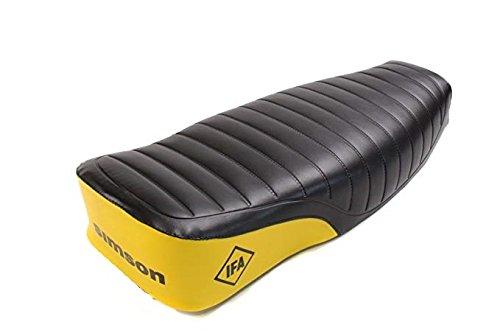 Sitzbezug S51 S70 Enduro schwarz//gelb mit Schriftzug IFA Simson