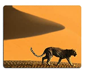 Animals Deserts Namibia Africa Leopards Mouse Pads Customized Made to Order Support Ready 9 7/8 Inch (250mm) X 7 7/8 Inch (200mm) X 1/16 Inch (2mm) High Quality Eco Friendly Cloth with Neoprene Rubber MSD Mouse Pad Desktop Mousepad Laptop Mousepads Comfortable Computer Mouse Mat Cute Gaming Mouse pad