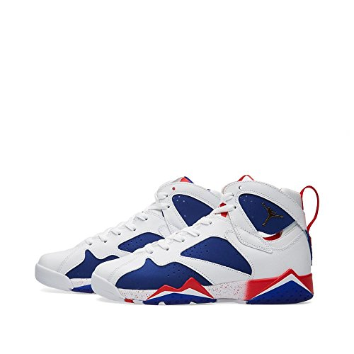 Jordan Kid Air 7 Retro BG, OLYMPISCHE TINKER WECHSELWEIT / MTLC GOLD COIN-DEEP ROYAL BLAU Multi