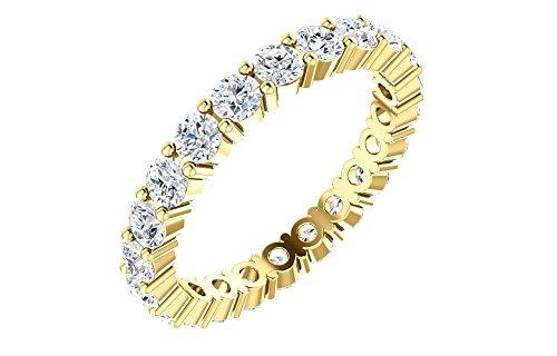 - 18k Yellow Gold 2.00 Ct Diamond Anniversary Wedding Eternity Band - Size 8