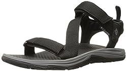 Columbia Men's Wave Train Athletic Sandal, Mud/Canyon Gold, 15 D US