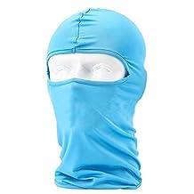 Lycra Fabrics Ski Face Mask Motorcycle Cycling Bike Bandana Hiking Skateboard Balaclava (blue)