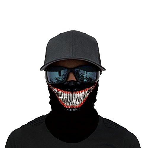 OUYZY Neck Gaiter, Headwear, Face Sun Mask, Magic Scarf, Bandana, Balaclava, Headband for Cycling, Fishing, Motorcycling, Running, Skateboarding, Moisture Wicking UV Protection