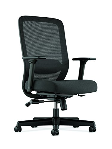 HON BSXVL721LH10 Exposure Mesh Task Chair – Computer Chair with 2-Way Adjustable Arms for Office Desk, Black (HVL721)