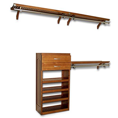 In Closets Reach (John Louis Home 12in. Deep Woodcrest Organizer - Caramel Finish)