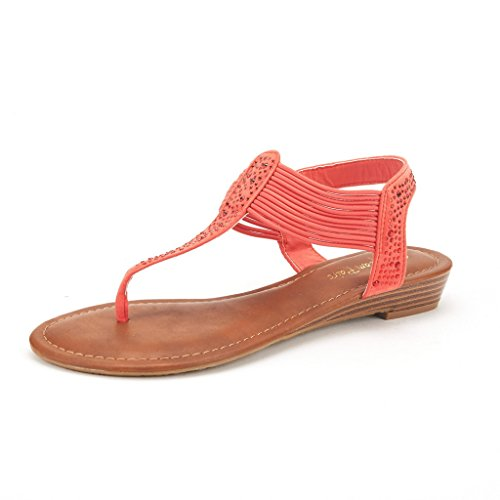 Spark Wedge Sandal, Coral Suede, 10 M US (Coral Dress Shoes)