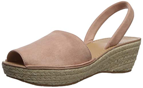 (Kenneth Cole REACTION Women's Fine Glass Espadrille Slingback Wedge Sandal, Rose, 7.5 M US)