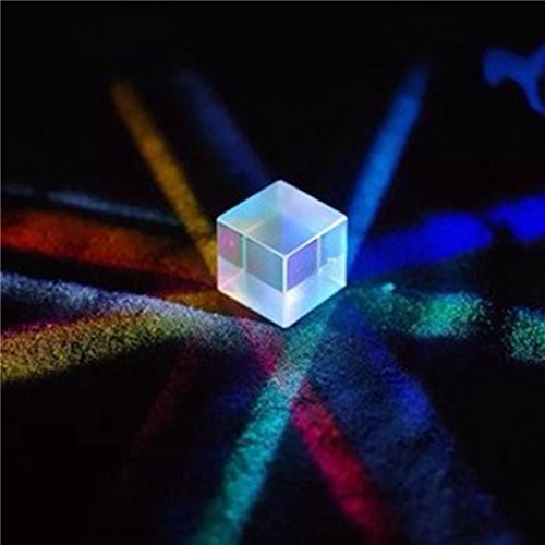 CynKen 1Pcs 30x30x30mm Optical Glass RGB Dispersion Prism X-CUBE for Physics Teach Decoration (Optical Cube)