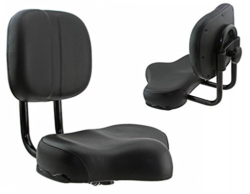 Lowrider Beach Cruiser SEAT with Back 917 Black. Bike Part, Bicycle Part, Bike Accessory, Bicycle Accessory