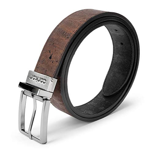 Corkor Reversible Vegan Belt Cork | 1 3/8 Inch (35 mm) Wide | Black Brown Color Medium - Collection Belt