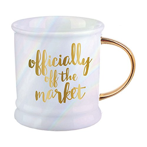 (Officially Off the Market Gold Foil 16 Ounce Ceramic Footed Coffee Mug )