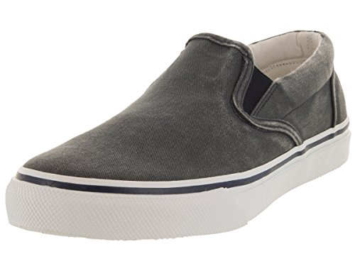 Sperry Top-Sider Men's Striper Slip-On Boat Shoe,Navy,11 M - Canvas Boat Shoes