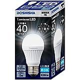 ルミナス LED電球 E26口金 40W相当 昼白色 直下重視タイプ 密閉器具対応 LDAS40N-H