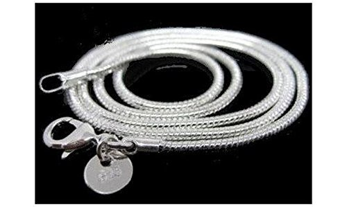 [CHAR14] Chaine collier plaqué Argent 925/1000 maille serpent 45 cm