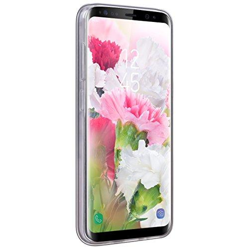 Funda Samsung Galaxy S8 Plus, WE LOVE CASE Ultra Fina Slim Suave Funda Glitter Transparente Quicksand Amor Rosado Samsung S8 Plus Silicona Cubierta Clear Cover Original Flexible Gel Dibujos Anti Rasgu Rose