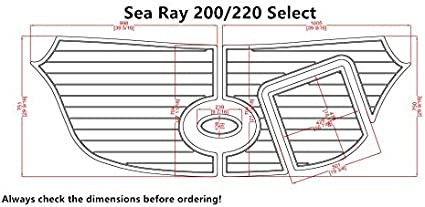 Amazon Com Sea Ray 200 220 Select Swim Platform Pad 1 4 6mm